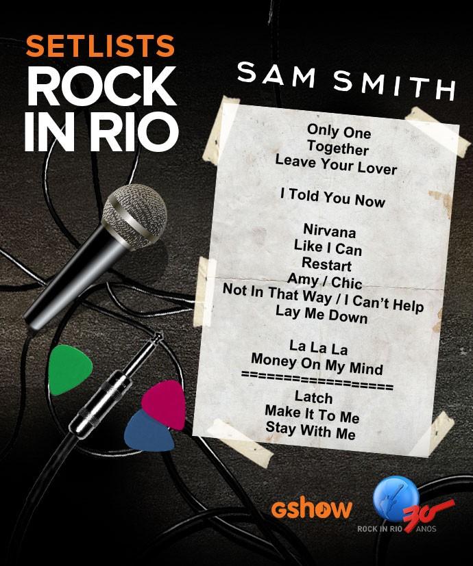 Setlist Sam Smith (Foto: Gshow)