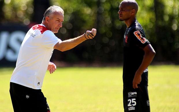 dorival junior e welington silva Flamengo treino (Foto: Maurício Val / Vipcomm)