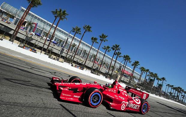 Dario Franchitti pole fórmula indy Long Beach (Foto: Getty Images)