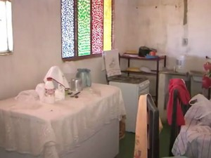 Aposentada cedeu imóvel para desabrigados  (Foto: Reprodução/TV Sudoeste)