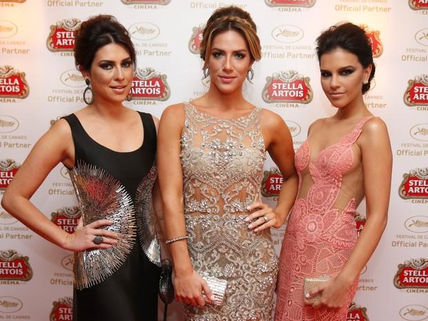Fernanda Paes Leme, Giovanna Ewbank e Mariana Rios em Cannes (Foto: Felipe Panfili / AgNews)