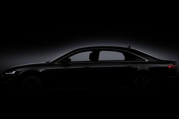 Imagem teaser do novo Audi A8 (Foto: Divulgação)