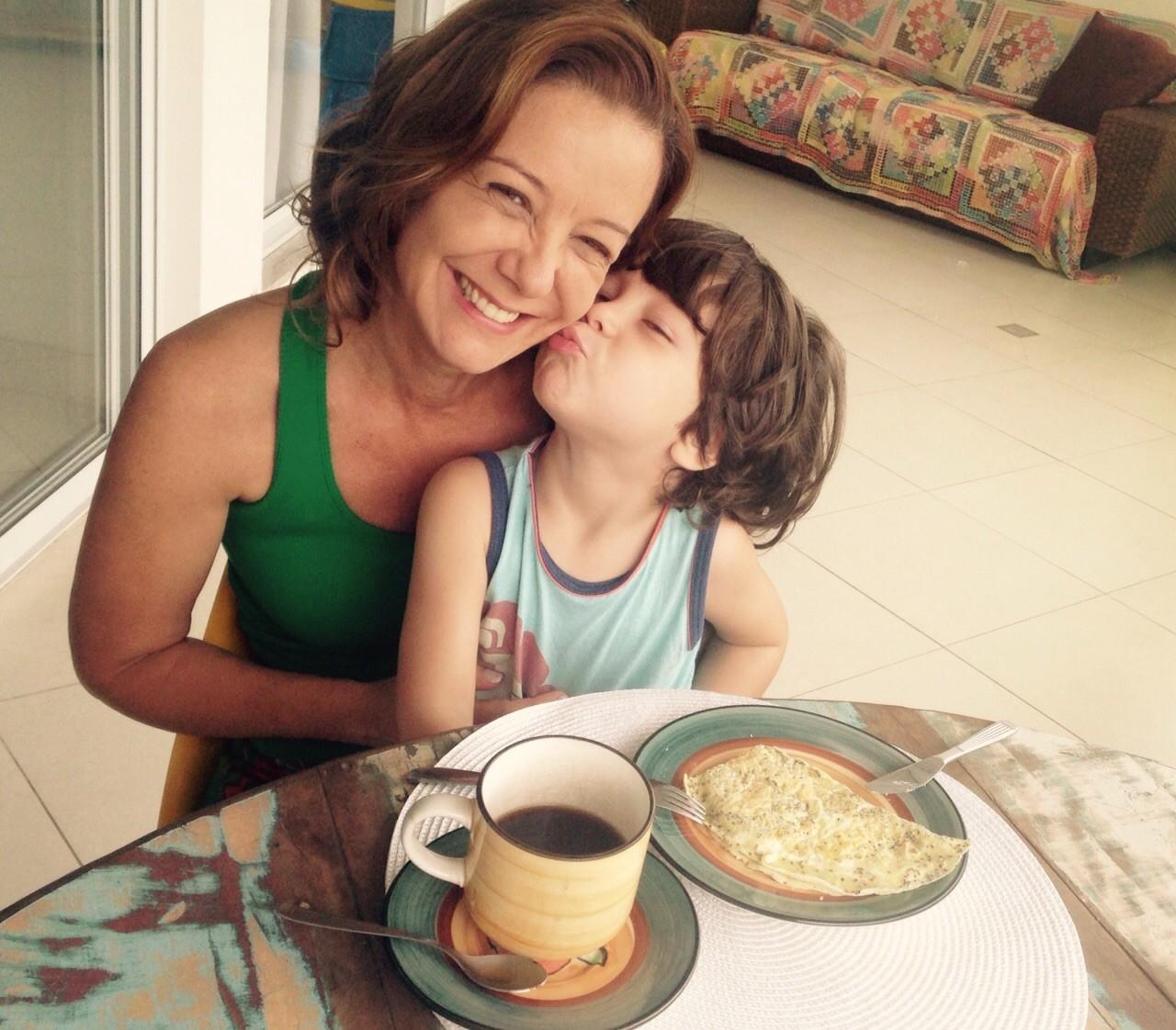 Sandra Freitas e o filho Henrique (Foto: Arquivo Pessoal)