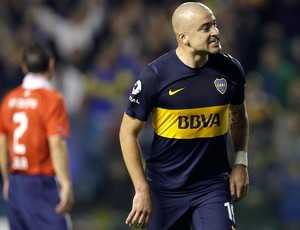 Santiago Silva, Boca Juniors x Independiente (Foto: Agência AP)