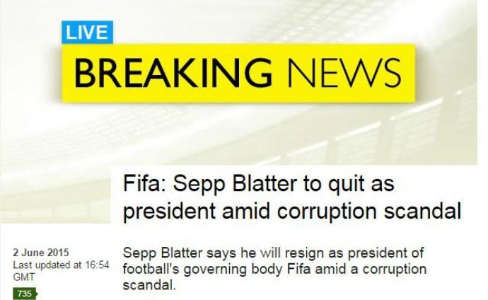 saída blatter fifa bbc (Foto: Reprodução)
