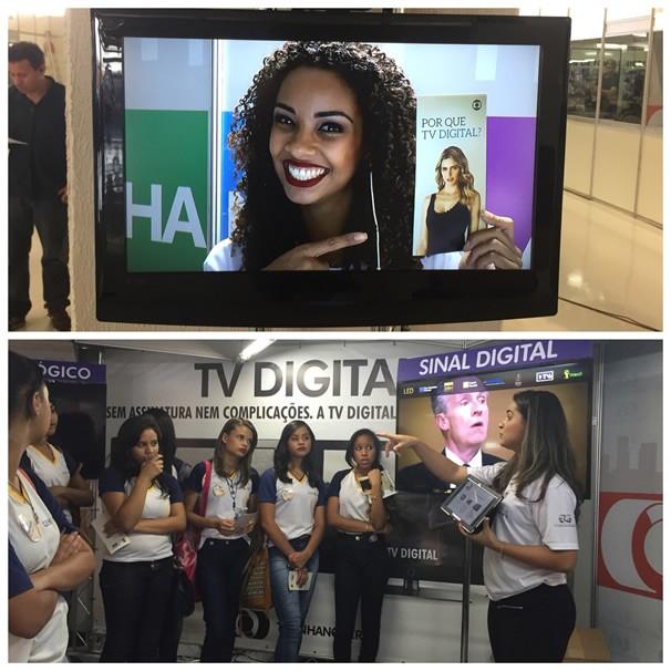 TV Anhanguera apresenta as vantagens da TV Digital na Jornada da Cidadania, em Goiânia (Foto: TV Anhanguera) (Foto: TV Anhanguera)