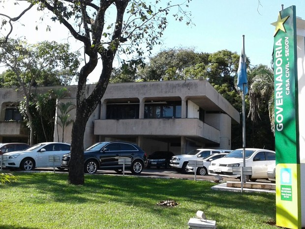 Casa Civil do governo do estado, no Parque dos Poderes, em Campo Grande (Foto: Eduardo Almeida/ TV Morena)