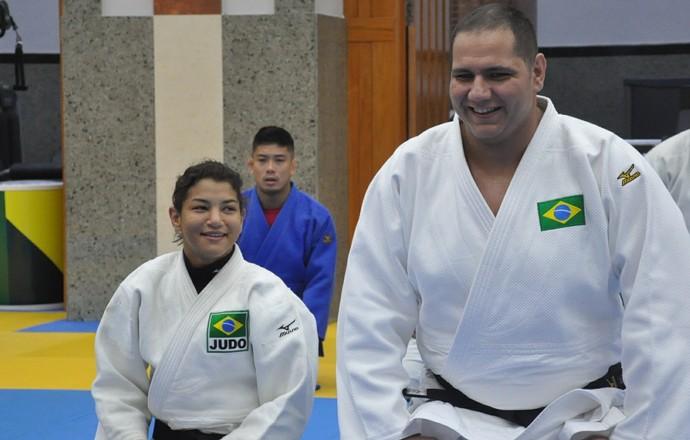 Sarah Menezes e Rafael Silva (Foto: Lara Monsores/CBJ)