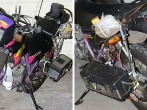 Funcionário público de Itu adapta moto para funcionar com água (Foto: Fernando de Souza / Staff News)