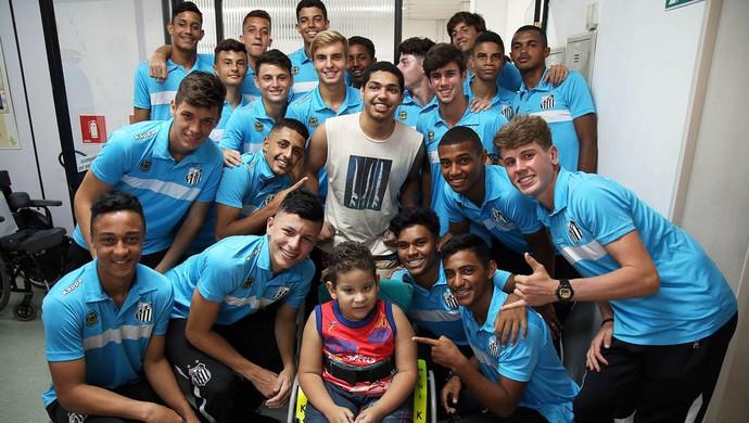 Sub-17 Santos AACD (Foto: Pedro Ernesto Guerra Azevedo/Santos FC)