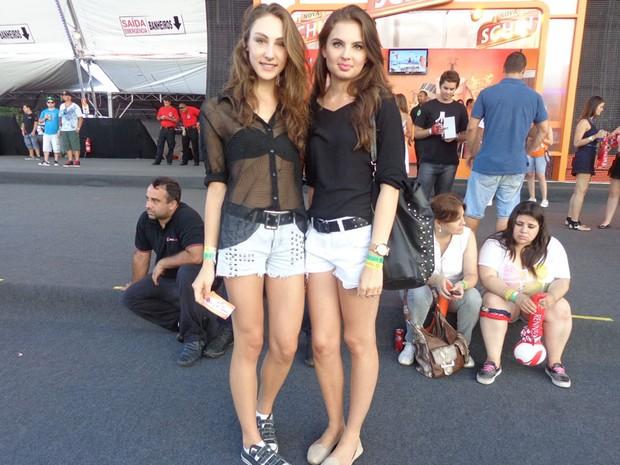 Gabriela Dalla Vecchia e Stephanie Soares (Foto: Jessica Mello/G1)