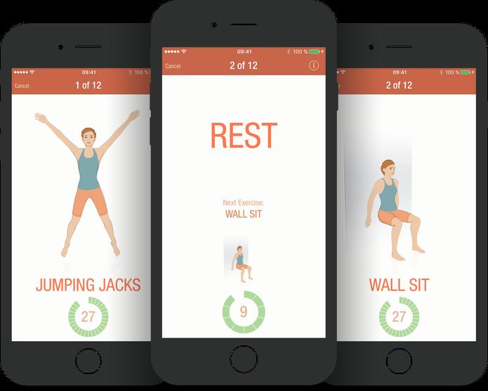 App 7 Minute Workout Seven promete apenas sete minutos de exercícios (Foto: Divulgação)
