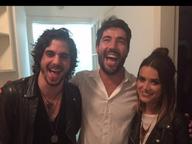 Fiuk, Sandro Pedroso e Manu Gavassi em festa em São Paulo (Foto: Instagram/ Reprodução)