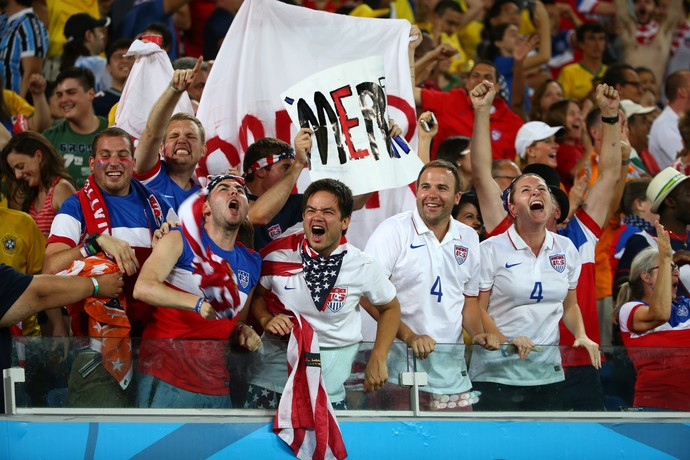 Torcedores dos EUA - Copa do Mundo - Gana x EUA (Foto: Getty Images)