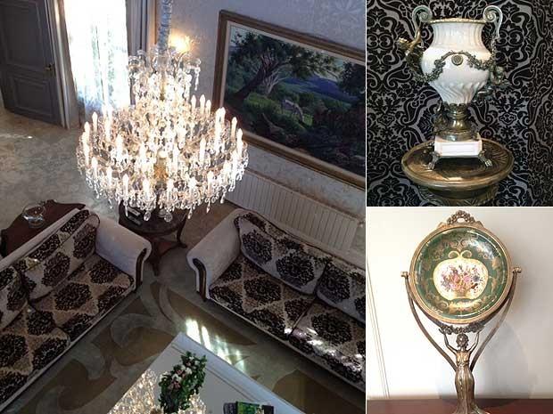 Primeiro hotel de seis estrelas em Gramado, RS (Foto: Montagem sobre fotos de Roberta Salinet/RBS TV)