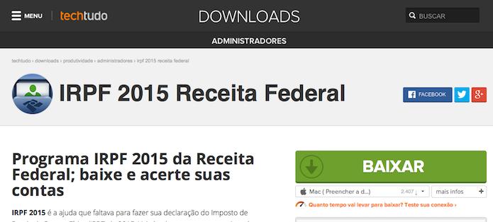 Imposto de Renda 2015: saiba o que instalar e como ...