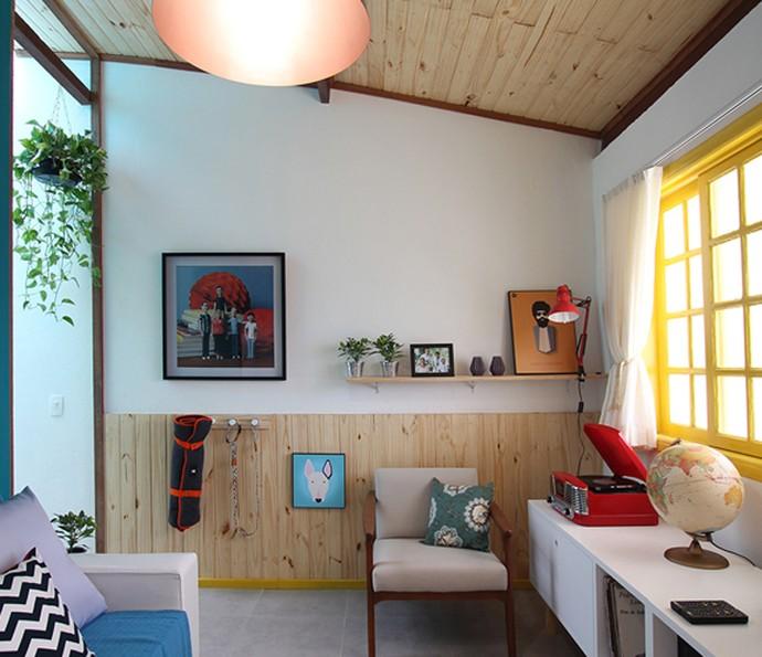 A sala foi pensada para receber visitas  (Foto: TV Globo)