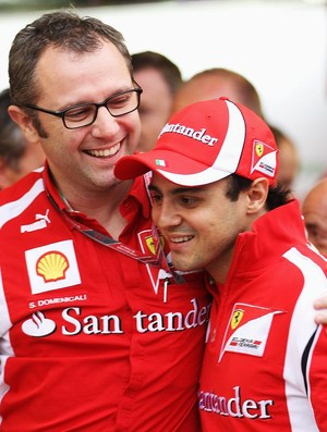 Domenicali e Massa no paddock da F-1 (Foto: Getty Images)