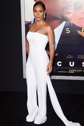 Jada Pinkett Smith em première de filme em Los Angeles, nos Estados Unidos (Foto: Jason Merritt/ Getty Images/ AFP)