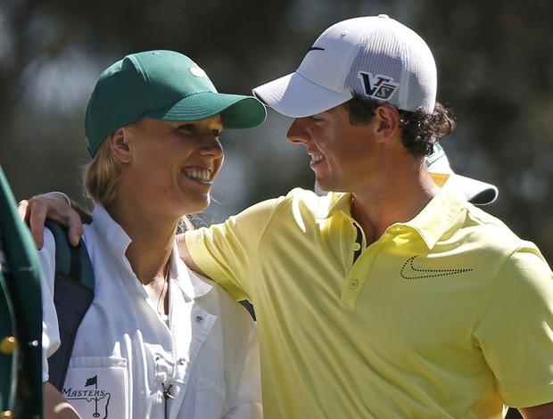 Caroline Wozniacki Rory McIlroy Augusta National golfe (Foto: Reuters)