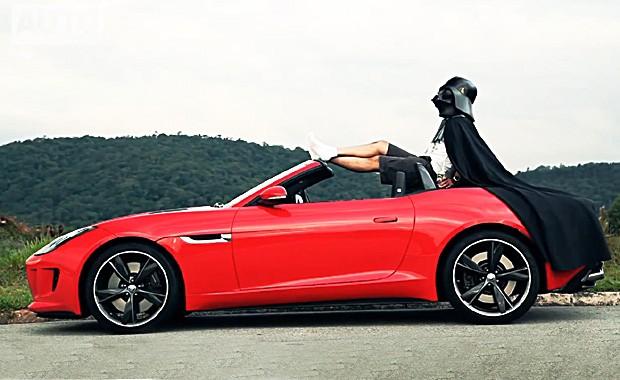 Jaguar F-Type e Darth Vader (Foto: Autoesporte)