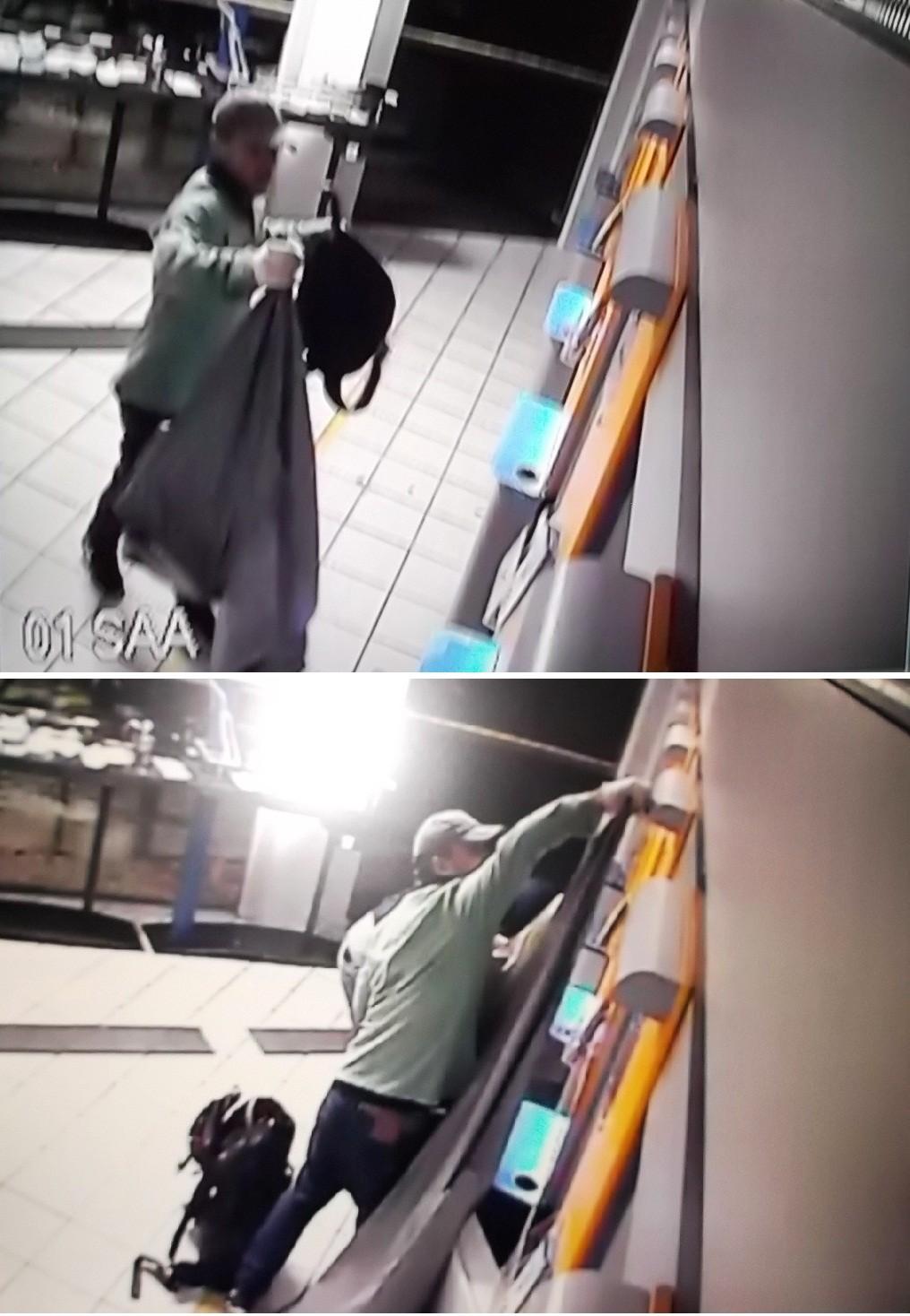 Câmeras de segurança flagraram a ação dos bandidos (Foto: PM/Divulgação)