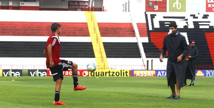 Wesley, atacante do Botafogo-SP (Foto: Cleber Akamine)
