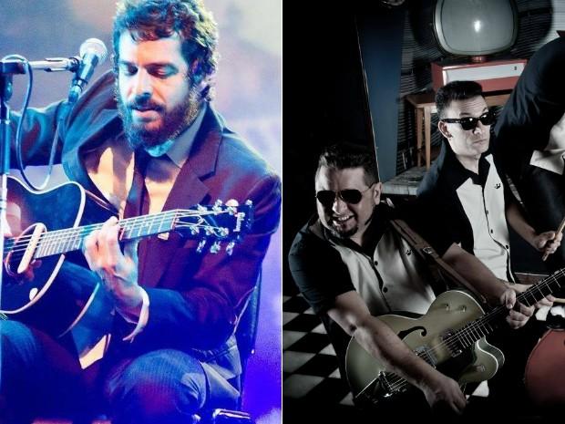 Martin e Les Royales se apresentam nesta terça junto com a Raimundos Cover (Foto: Arte/G1)