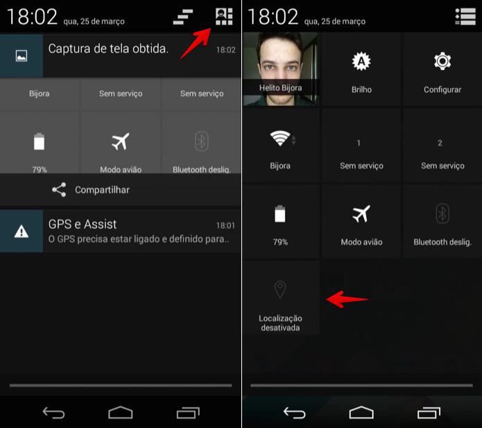 Desativando o GPS do Android (Foto: Reprodução/Helito Bijora)