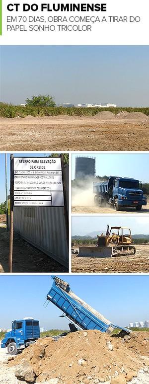 Mosaico Ct Fluminense Obras (Foto: Hector Werlang)