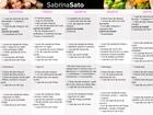 Tá na hora da dieta! Confira o cardápio completo de Sabrina Sato, Claudia Leitte e mais famosos
