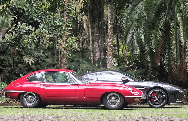 Jaguar F-Type R e E-Type cupê (Foto: Diego Speratti)