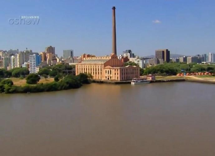 Porto Alegre foi homenageada no 'Telão do Domingão' (Foto: Gshow)