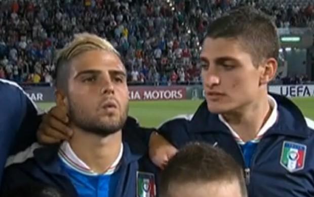 Insigne Verratti Itália Eurocopa Sub-21 (Foto: Reprodução SporTV)