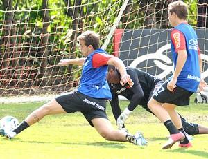 Thomás no treino do Flamengo (Foto: Alexandre Vidal / Fla Imagem)