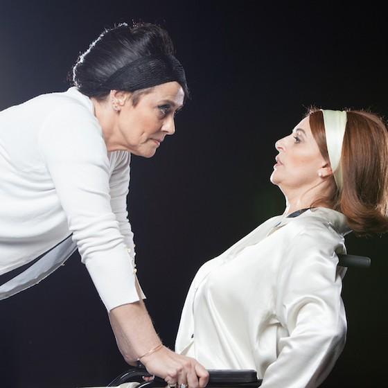 Nina de Pádua e Sônia Lima revivem no palco tramas dos filmes A malvada e O que terá acontecido a Baby Jane? (Foto: Divulgação)