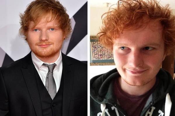 """Ed Sheeran e usuário do Reddit """"tobias476"""" (Foto: Getty Images//Reprodução)"""