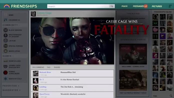 Fatality de Cassie Cage em Mortal Kombat X tem direito a selfie, post em rede social e até comentários (Foto: Reprodução/YouTube)