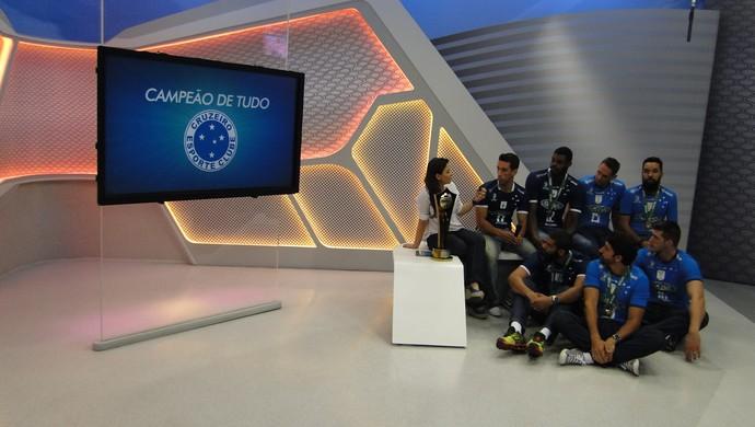 Jogadores do Cruzeiro campeões da Superliga Masculina de Vôlei (Foto: Marco Antônio Astoni)