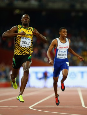 Usain Bolt 200m Mundial de Atletismo de Pequim (Foto: Ian Walton / Getty Images)