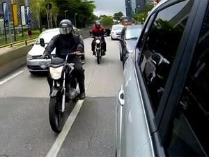 Motos em São Paulo (Foto: Reprodução/Jornal Hoje)
