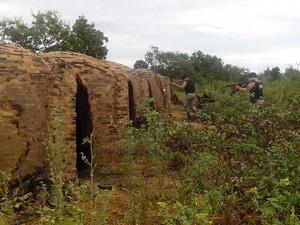 Policiais de toda a região estavam mobilizados nas buscas na zona rural de Riachinho (Foto: Divulgação / Polícia Militar)