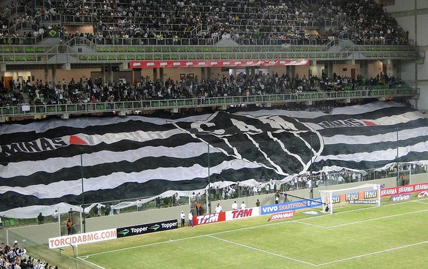 mosaico da torcida do Atlético-MG (Foto: Léo Simonini / Globoesporte.com)