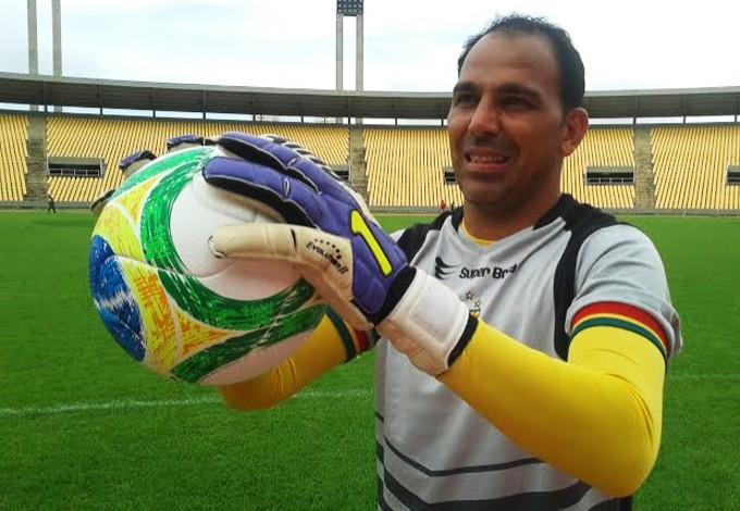 Goleiro Rodrigo Ramos acredita em boa campanha do Sampaio na Série B (Foto: Afonso Diniz/GloboEsporte.com)