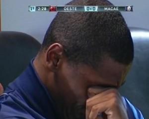 Rafael Vieira, macaé, chora (Foto: Reprodução)