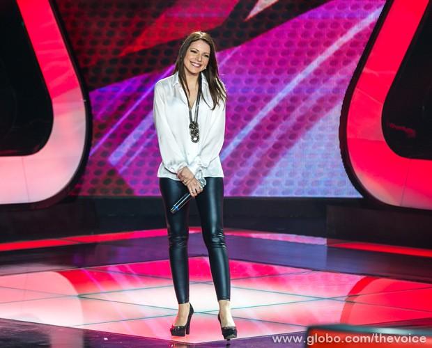 Débora Cidrack canta música de Kelly Clarkson no The Voice Brasil (Foto: Isabella Pinheiro/TV Globo)
