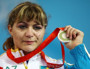 levantamento de peso pequim 2008 Irina Nekrassova  (Foto: Getty Images)