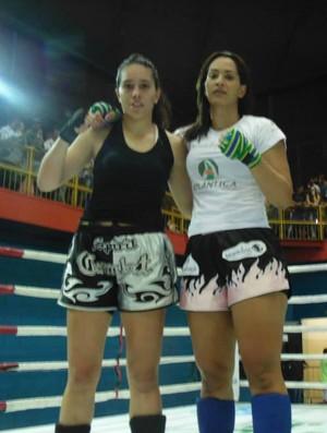 Bárbara Nepomuceno já enfrentou e venceu a mineira Camila Guimarães no Campeonato Brasileiro de kickboxing (Foto: Divulgação/Arquivo Pessoal)
