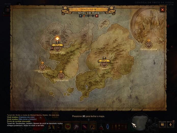 O Modo Aventura permite que o jogador participe de missões de caçada por todos os cenários de Diablo 3 (Foto: Reprodução/Daniel Ribeiro)