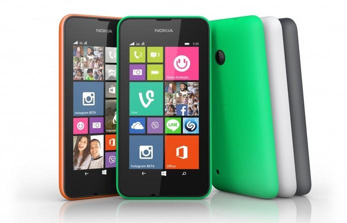 Lumia 530 tem tela de 4 polegadas, Windows Phone 8.1 e câmera de 4 megapixels (Foto: Divulgação/Microsoft)